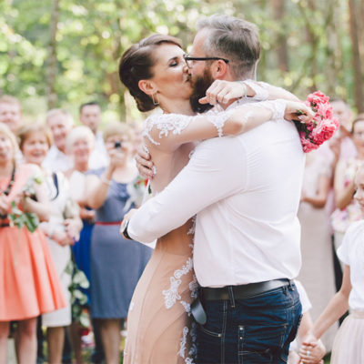 Kurki - ślub w lesie