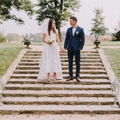 Anja i Krzysztof - ślub w pałacu Kamieniec